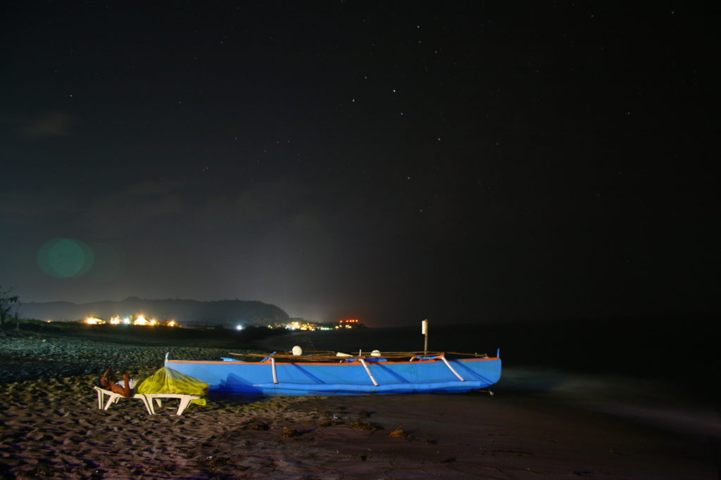 Beach Ili Sur, San Juan, La Union at Night
